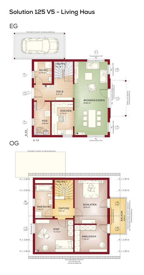 Einfamilienhaus Wohnkueche Mit Fruehstuecks Tresen by Grundriss Einfamilienhaus Mit Satteldach Carport 3