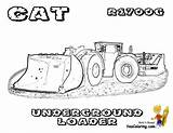 Coloring Pages Construction Loader Machines Equipment Underground Digging Excavator Cat Mighty Mining Rock Hard Backhoe Machine Colouring Truck Heavy Yescoloring sketch template