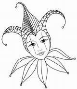Jester Mask Lady Court Tattoo Coloring Drawing Adult Drawings Clown Jes Flickr Joker Mardi Harlequin Gras Colouring Carnival Tattoos Masks sketch template