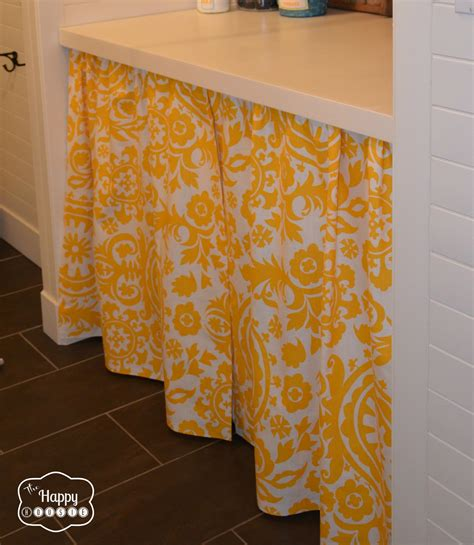 laundry room curtains diy a no sew curtain in the laundry room the happy housie