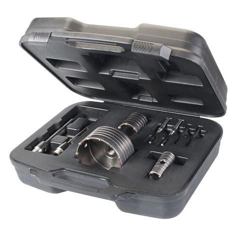coffret scie cloche coffret scie cloche tr 233 pan pour b 233 ton et 30 50 110 mm silverline 633523 outillage