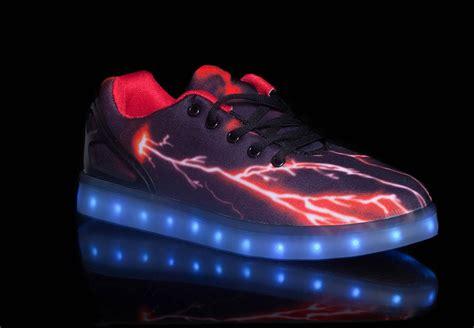 led light shoes for kid big kids led light up shoes pulsar black red cheap sale