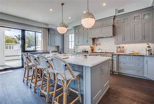 Kitchen Cabinetry Blue Gray Color Home Ideas