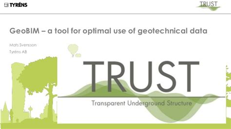 Geobim  A Tool For Optimal Use Of Geotechnical Data