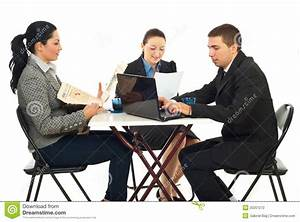 Group Of Business People In A Cafe Shop Stock Photography ...