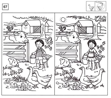 spot the difference worksheets activity shelter