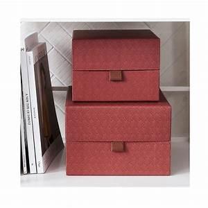 Boite De Rangement Carton : bo te de rangement en carton et cuir par 2 ray house doctor decoclico ~ Teatrodelosmanantiales.com Idées de Décoration