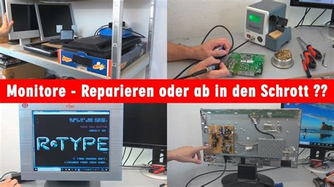 lcd display reparieren monitore reparieren oder ab in den schrott tft lcd monitor test defekte bildschirme pr 252 fen