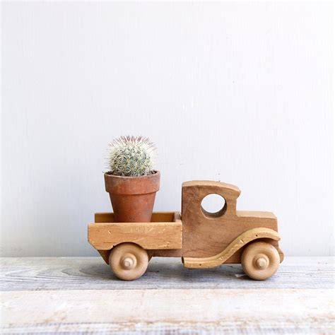 wooden toys vintage handmade wooden toy truck