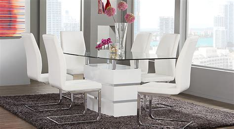 Tria White 5 Pc Rectangle Dining Room  Dining Room Sets