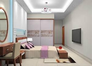 Modern bedroom ceiling design 3d