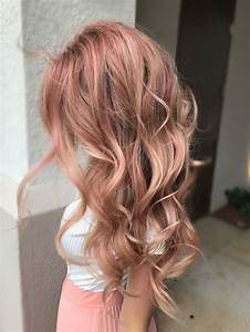 Light Hair With Strawberry Highlights Image Result For Brown Hair And Rose Gold Layers Colored