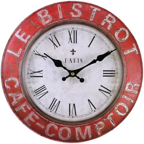 horloge cuisine vintage large vintage rustic wall clocks shabby chic kitchen home