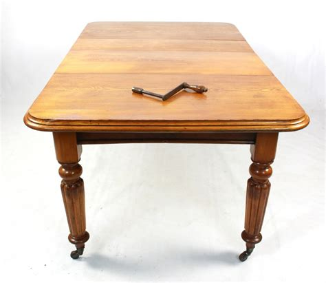 antique light oak extending dining kitchen table