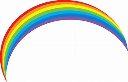 Rainbow Background Clipart Sky Cartoon Transparent Clip