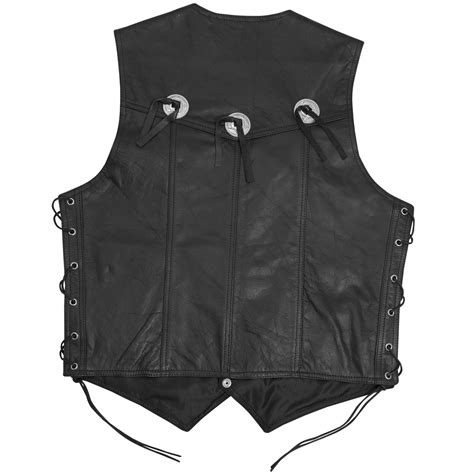 Cowhide Leather Vest by Vest Leather Waistcoat Biker Motorcycle Apparel Cow Hide