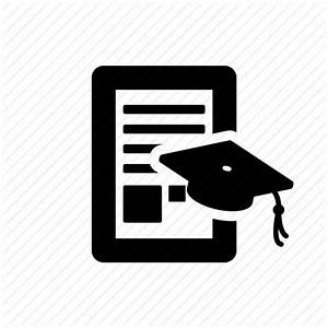 Academic, documents, files, graduated, paper icon   Icon ...