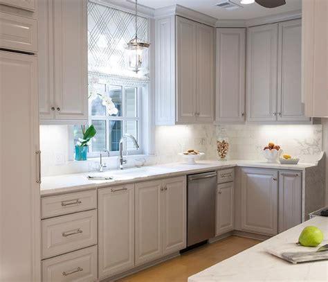 light gray kitchen cabinets white raised panel cabinets design ideas