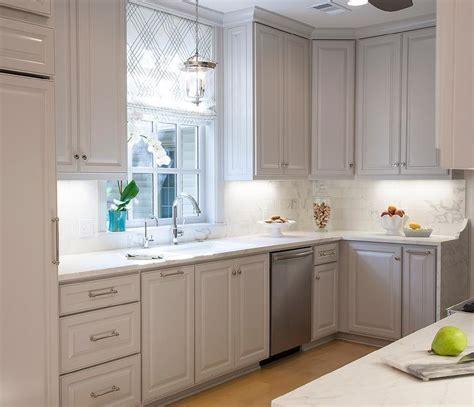 White Raised Panel Cabinets Design Ideas