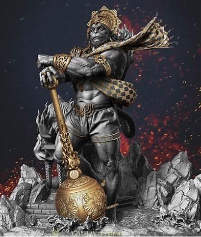 Hanuman God Zbrush Kumar Gaurav 3d Wallpapers