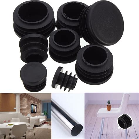 10pcs black plastic furniture leg chair legs foot