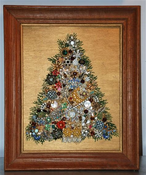 jeweled christmas tree picture craft ideas pinterest