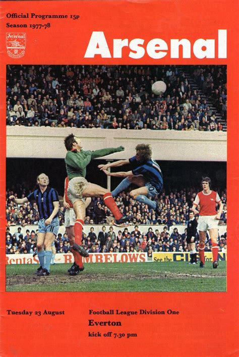 Arsenal v Everton 1977-78   Vintage football, Football ...