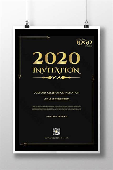 Black Gold Invitation Letter Corporate Campaign Notice
