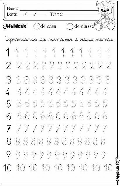 Worksheets Kindergarten Tracing Numbers Preschool Math Kinder
