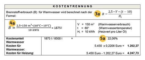 Heizkosten Warmwasser Berechnen by So Pr 252 Fen Sie Ihre Warmwasser Abrechnung Projekt Energie2020