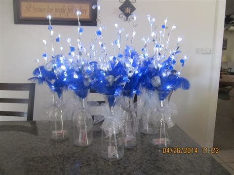 royal blue table decorations royal blue quinceanera table decorations photograph s640 4