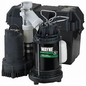 Wayne 1  2 Hp Battery Backup Sump Pump System-wss30v