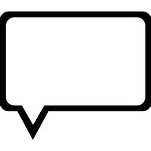 send a balloon in a box speech outline of rectangular shape free