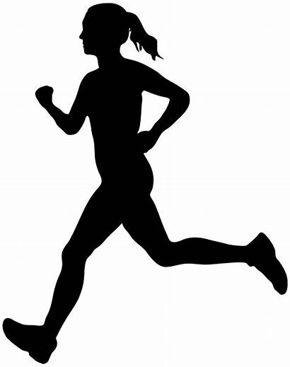 Running Clipart Woman Clip Silhouette Lady Clipground