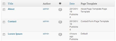 How To Show Page Templates In Wordpress Dashboard
