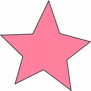 Pink Star Clip Art - Pink Star Image