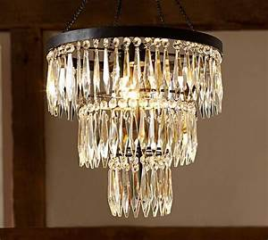 adele crystal large chandelier With chandeliers at pottery barn