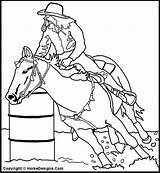 Coloring Racing Horse Pages Barrel Clip Race Western Horses Stencils Printable Sheets Messageboard Pal Clipart Barrels Cowboy Cliparts Racer Brought sketch template