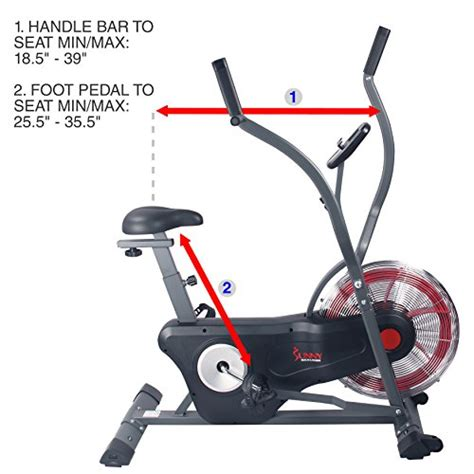 air fan exercise bike sunny health fitness air bike trainer fan exercise bike