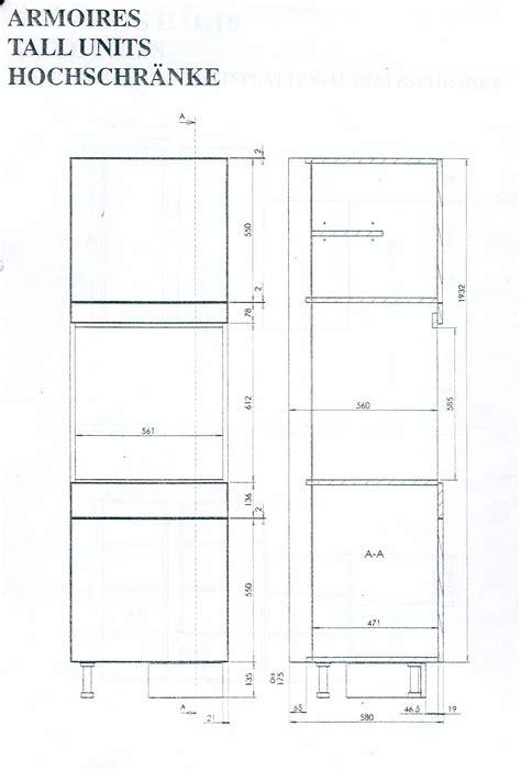 colonne de cuisine pour four et micro onde fabriquer meuble pour four encastrable
