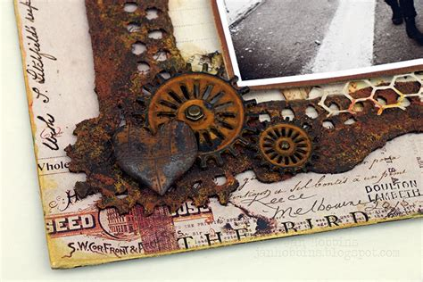 rust holtz tim finnabair hex fasteners imagination own mechanicals gears rusty dried brads tin attached once frame heart had paper