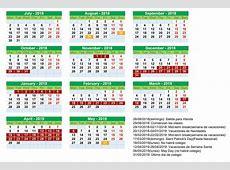 Calendario escolar en Irlanda 20182019 con fechas exactas