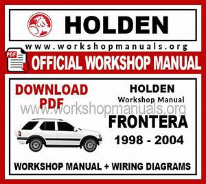 Holden Frontera Workshop Repair Manual
