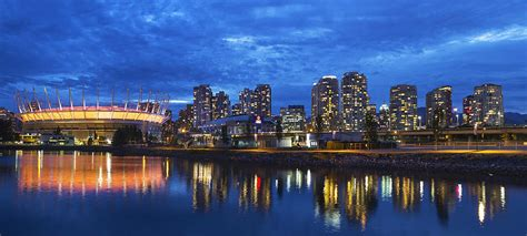 Shower Curtains Canada Online by Vancouver Bc City Skyline With Bc Place At Blue Hour