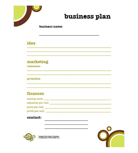 Business plan for small business pdf