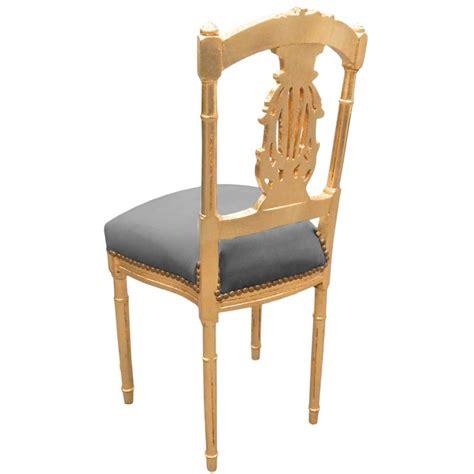 chaise bois gris chaise harpe de style louis xvi avec tissu velours gris et