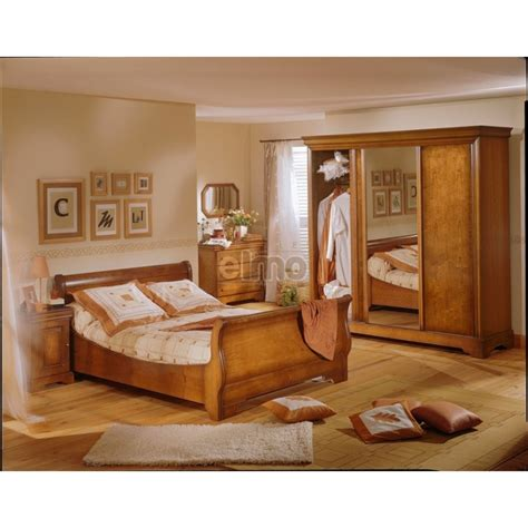 chambre style louis philippe armoire louis philippe merisier 3 portes coulissantes sabrina