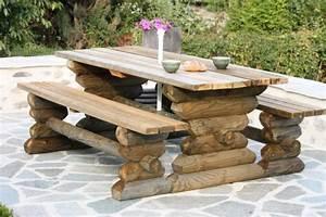 Rondin De Bois Pour Jardin : emejing table de jardin en rondin de bois photos doztopo ~ Edinachiropracticcenter.com Idées de Décoration