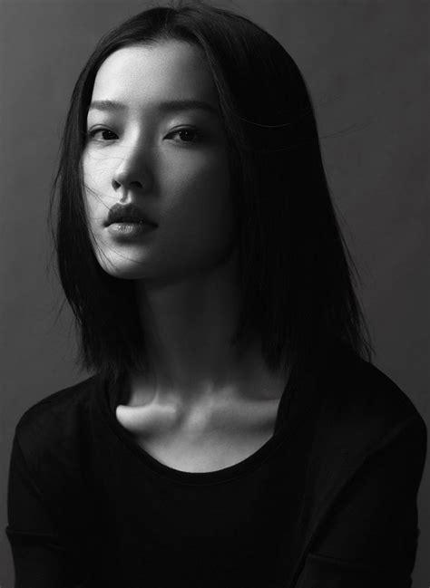Woman Black And White Portrait Face Asian Du Juan For