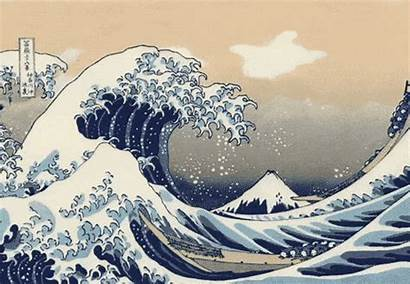 Giphy Japanese Gifs Mesmerizing Classic Prints Wave